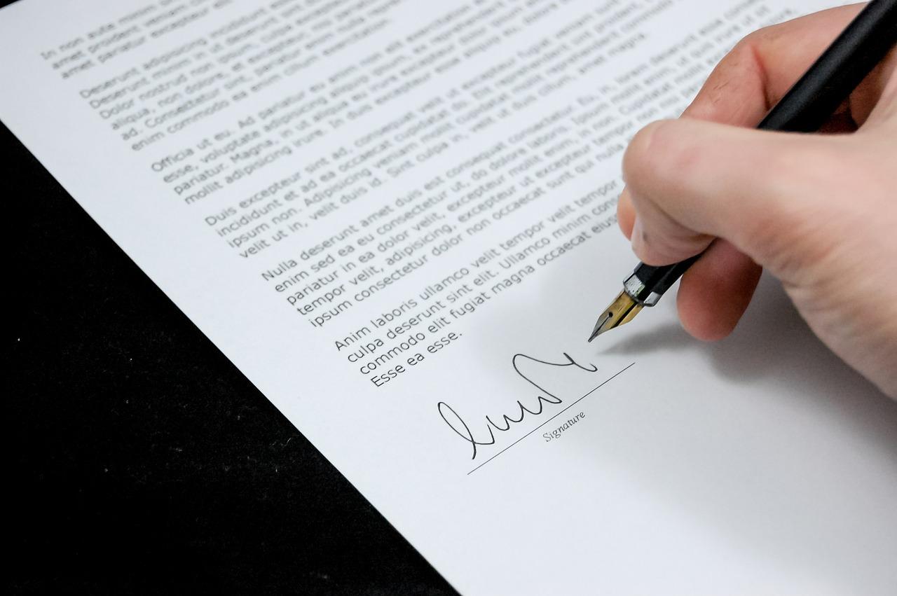 signature de document